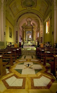 L'interno del Santuario della Madonna della Salute