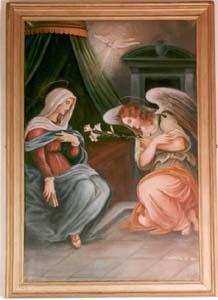 Quadro dell'Annunziata conservato nella Chiesa di Villa Fontane