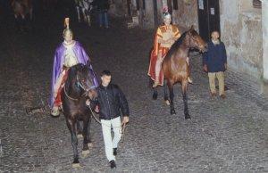 Procession du Christ Mort: des Figurants à cheval