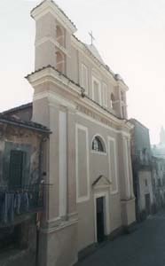 La facciata della chiesa di Santa Maria