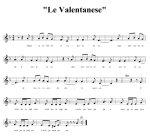 "La partitura de ""Le Valentanese"""